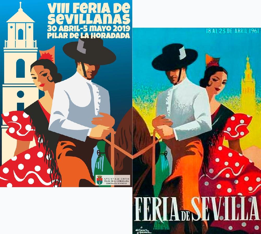 Polémica por el plagio del cartel de la Feria de Sevillanas de Pilar de la Horadada
